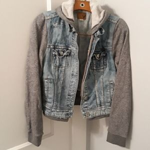 AE hooded denim jacket